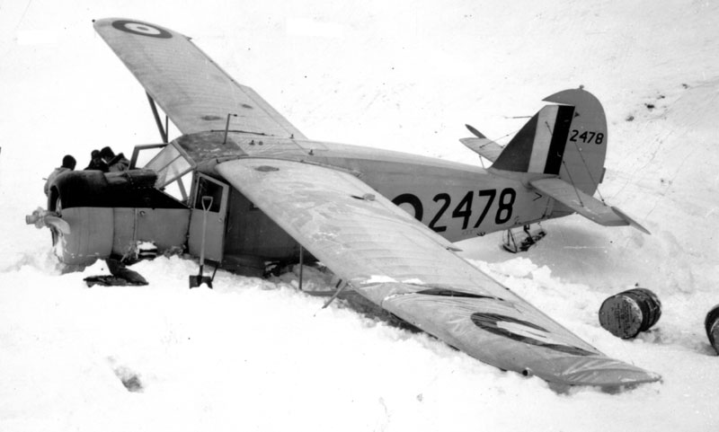 Photo: Another view of Norseman 2478 soon after the crash. Photo by Bill Baker