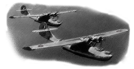 Illustration: Consolidated Catalina PBY flying boats, also known as Cansos in Canada